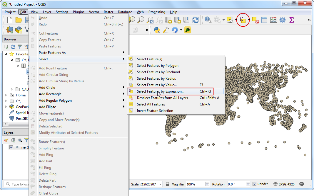 Import von Tabellen oder CSV Dateien — QGIS Tutorials and Tips