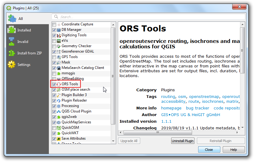 Service Area Analysis using Openrouteservice (QGIS3) — QGIS