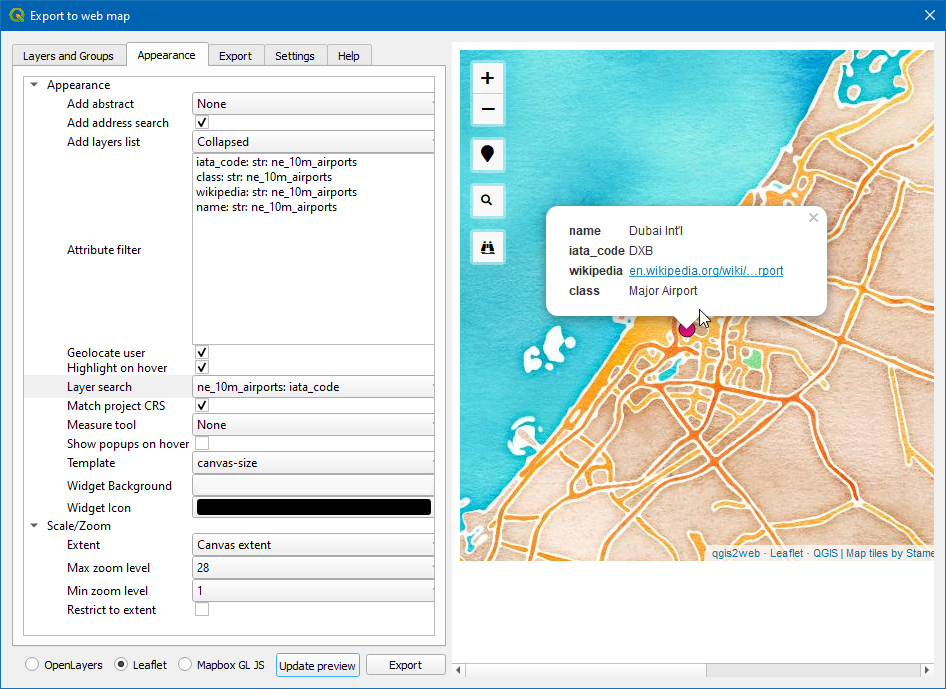 Mapeo web con qgis2web qgis tutorials and tips images2316g ccuart Gallery