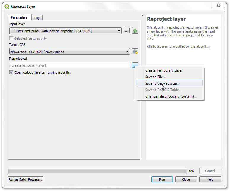 qgis how to search attribute table