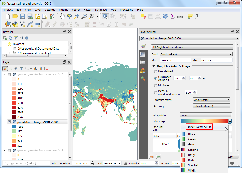 Calculating Line Lengths and Statistics — QGIS Tutorials and Tips