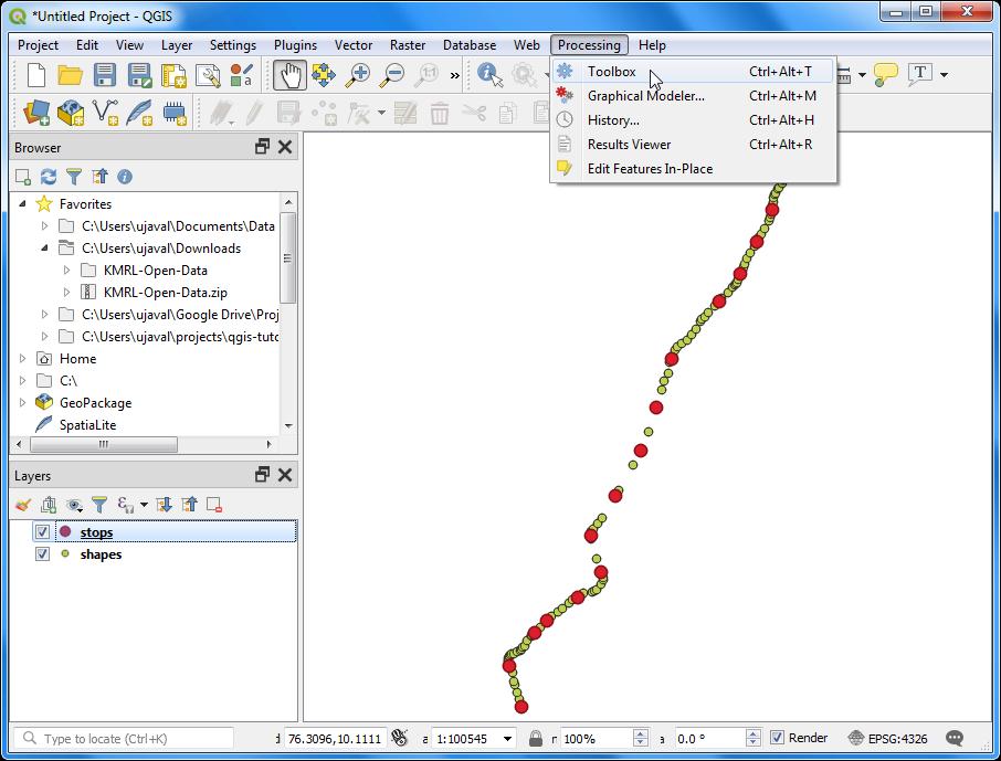 Batch Processing using Processing Framework (QGIS2) — QGIS Tutorials